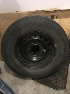 Michelin Latitude X-Ice tires with steel rims (265/65/R17)