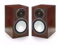 Monitor Audio Silver 1 Bookshelf Loudspeakers in Walnut - £350