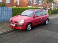 RENAULT CLIO 1.2, FULL YEAR MOT, FULL SERVICE HISTORY, LOW MILES - P/X, TRADE IN, SWAPS WELCOME