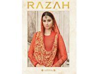 RAZAH ALVIRA WHOLESALE EMBROIDERED DRESS MATERIAL