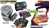 Transfer Old 8mm & 16mm Projector Film/VHS/Mini DV Tapes/Video8