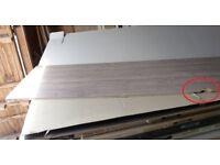 1 NEW Duropal Sonoma Oak Splashback Panel 9mm x 4100mm x 640mm.