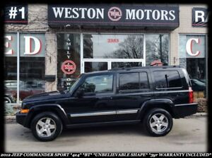 2010 Jeep Commander SPORT*4X4*CERT&ETEST*BLUETOOTH*3YR WARRANTY