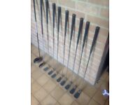 Full set of golf clubs with trolley bag