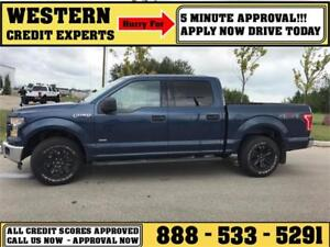 2015 Ford F-150 4x4 EcoBoost Tow Package 5 Min Approval $245 B/W