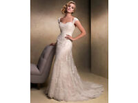 Free P&P: Amazing Wedding Dress Maggie Sottero 'Emma' Ivory (size 14-16)