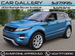 2013 Land Rover Range Rover Evoque w/Leather, Sunroof, Navi $229