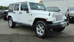 2015 Jeep WRANGLER UNLIMITED SAHARA 4X4 - NAV- LEATHER - DUAL TO