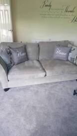 Large 2 and 3 Seater fabric sofas