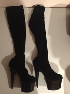 """Pleaser"" thigh high boots"