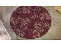 Large circular rug