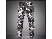 Mens Jogger Pants Camouflage Military Cargo Trousers Camo