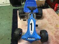 BLUE Injusa Go Kart Kids Outdoor Toy Pedal Car