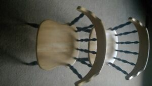 3 SOLID MAPLE KITCHEN CHAIRS