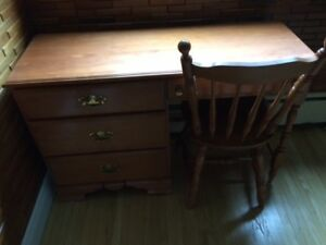 Desk and Matching Chair in Good Condition