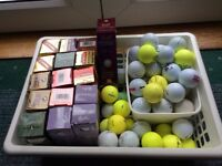 Selection of golf balls for sale