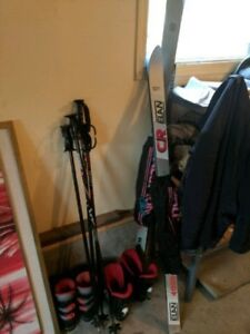 two sets of skis
