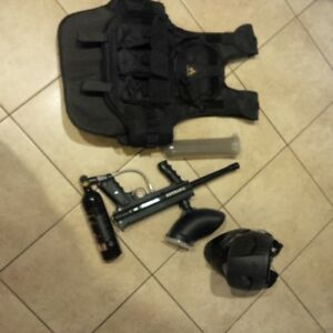tippman 98 and paintball gear