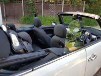 Mini one cream/white convertible black alloys 1 year mot