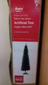 6ft artificial Pencil Christmas tree