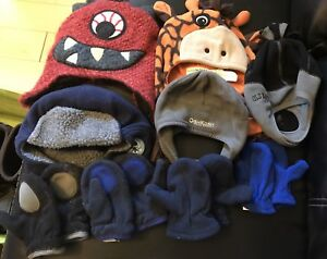 Lot of hats and mittens 12-24 months