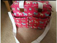 Pink changing bag