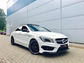 2015 Mercedes-Benz CLA 45 AMG 2.0 ( 360bhp ) 4MATIC CLA45 COUPE + WHITE +