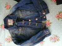 Girls denim jacket 6~7 years