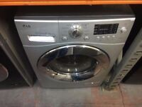 LG 8/6 KG DIRECT DRIVE SILVER WASHER DRYER RECONDITIONED