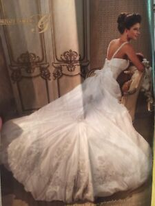 Beautiful wedding dress and accessories