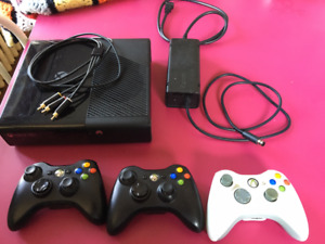 XBOX 360 S & 3 controllers for $150