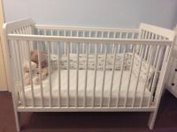 Baby cot and Matress as new