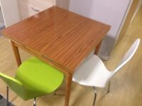 Extendable dining table with 2 Ikea Chairs