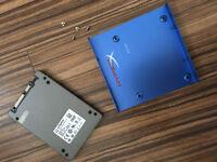 "Kingston HyperX 3K 120GB 2.5"" + Adaptor to 3.5'' (SH103S3/120G) Internal SSD"