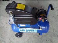 NATIONAL MACHINERY AIR POWER 24LTR AIR COMPRESSOR 230V 2HP