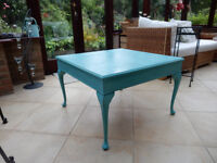 Solid Wood Shabby Chic Square Coffee Table