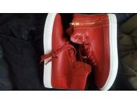 ***BRAND NEW Criminal Damage Red Hi Top Trainers***