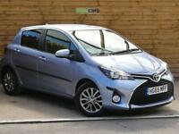 Toyota Yaris 1.33 VVT-i Icon 5dr VERY LOW MILEAGE (sinatra blue metallic) 2016