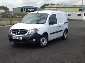 DEC 2015 MERCEDES CITAN CDI LONG. ONLY 24K MILES. 2 SIDE DOORS + LOTS OF EXTRAS. BULKHEAD. PLY LINED