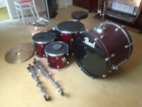 5 piece Pearl Drumkit