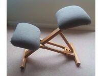 Ergonomic ash kneeling chair
