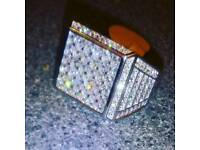 Brand new bling Real silver ring watch bag