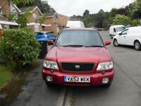 £995.00 TO CLEAR SUBARU FORRESTER 4X4 ESTATE AND ONLY 85K ON CLOCK