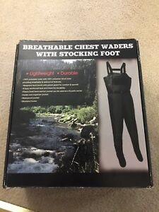 Breathable Chest Waders with Stocking Foot