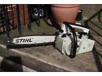 Petrol Stihl 020av top handle chainsaw in excellent condition