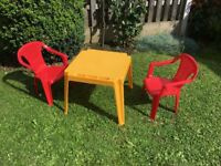 Children Garden Table and Chairs, Playroom, Nursery