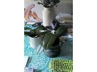 ** 2 orchid plants. **