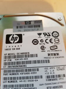 "FOR SALE HP 146GB  10000RPM 2.5"" HDD SAS"