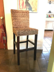Two Seagrass Barstool chairs