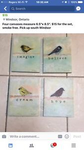 Bird canvas pictures